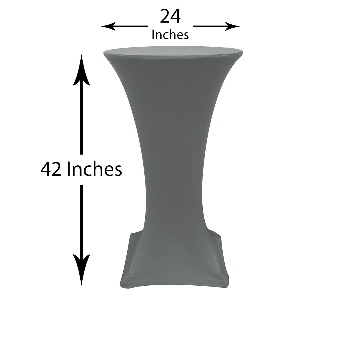 Inch Highboy Cocktail Round Stretch Spandex Table Cover Silver - 24 inch round cocktail table