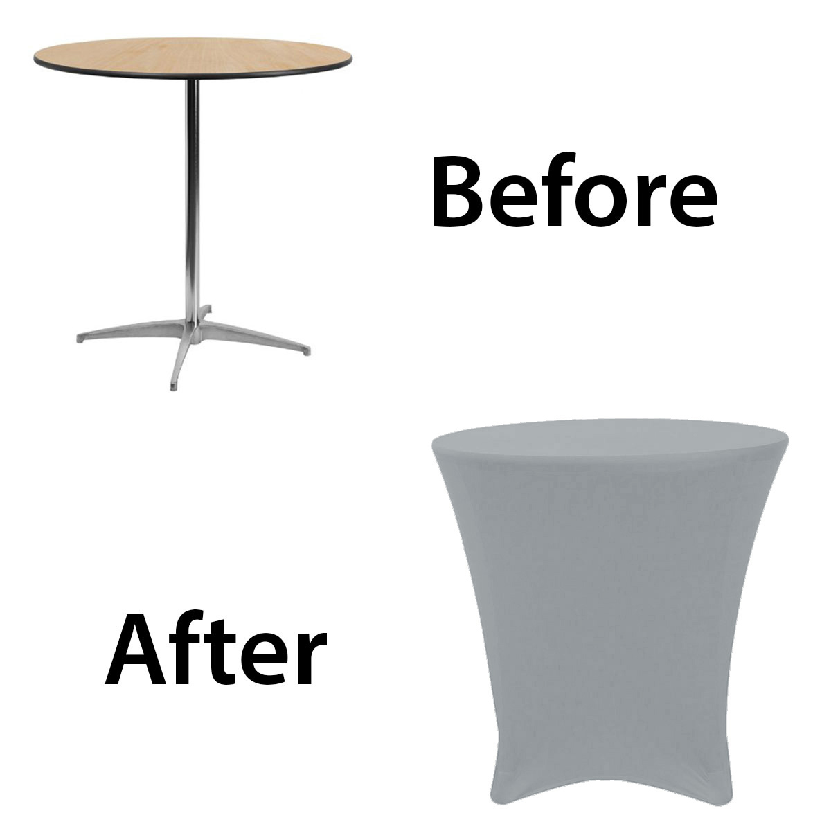 30-30-inch-lowboy-cocktail-spandex-table-covers-Silver-before-after.jpg