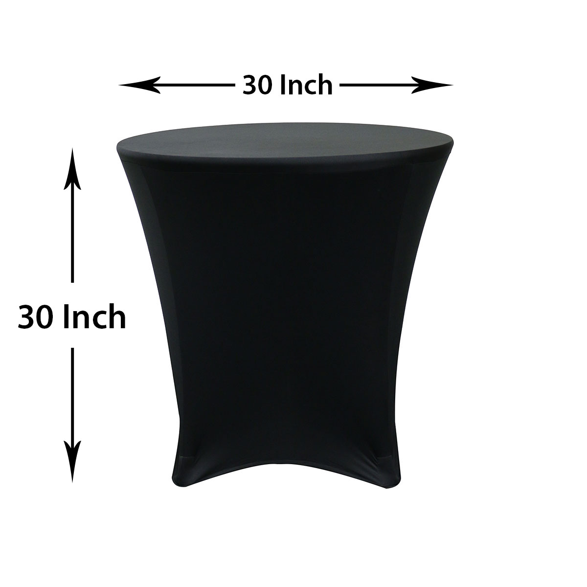 30 Inch Lowboy Tail Spandex Table Covers