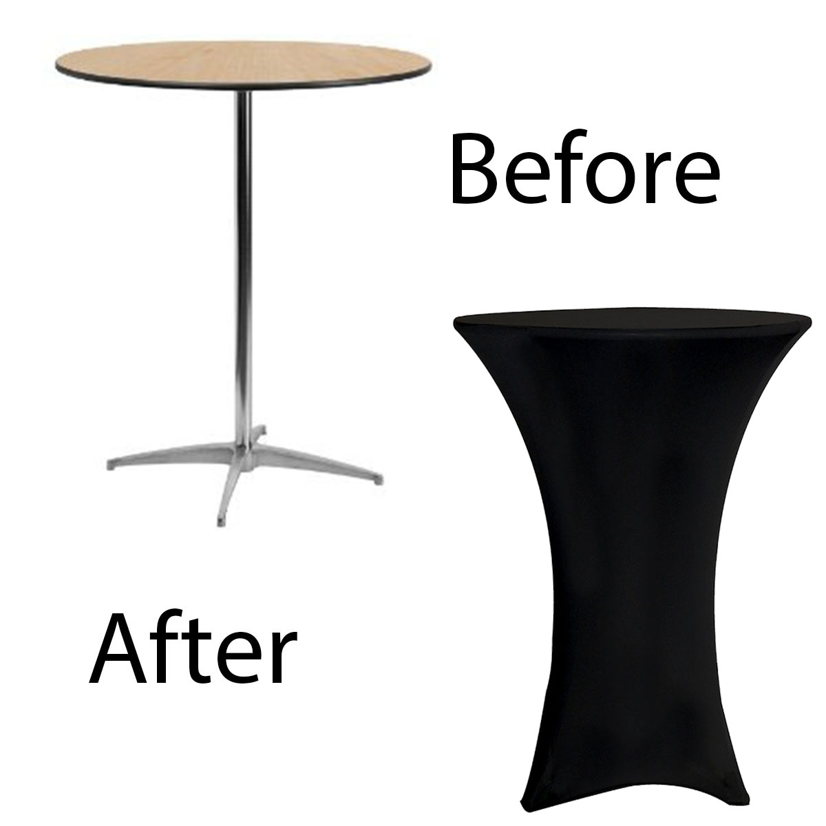 30 inch spandex cocktail before after