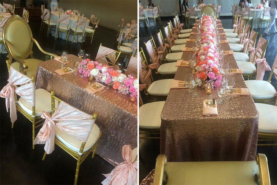 Photos Beautiful Blush And Sequin Bridal Shower By Var Events