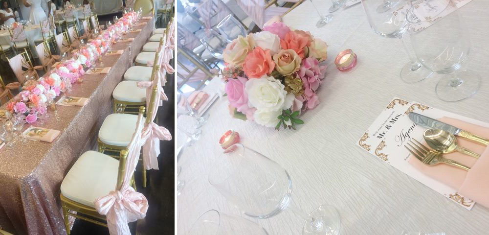 Fresh Blooms And Rose Gold Hues To Create An Absolutely Beautiful Day For The Bride Be Michelle Event Took Place At Brec Greenwood Park