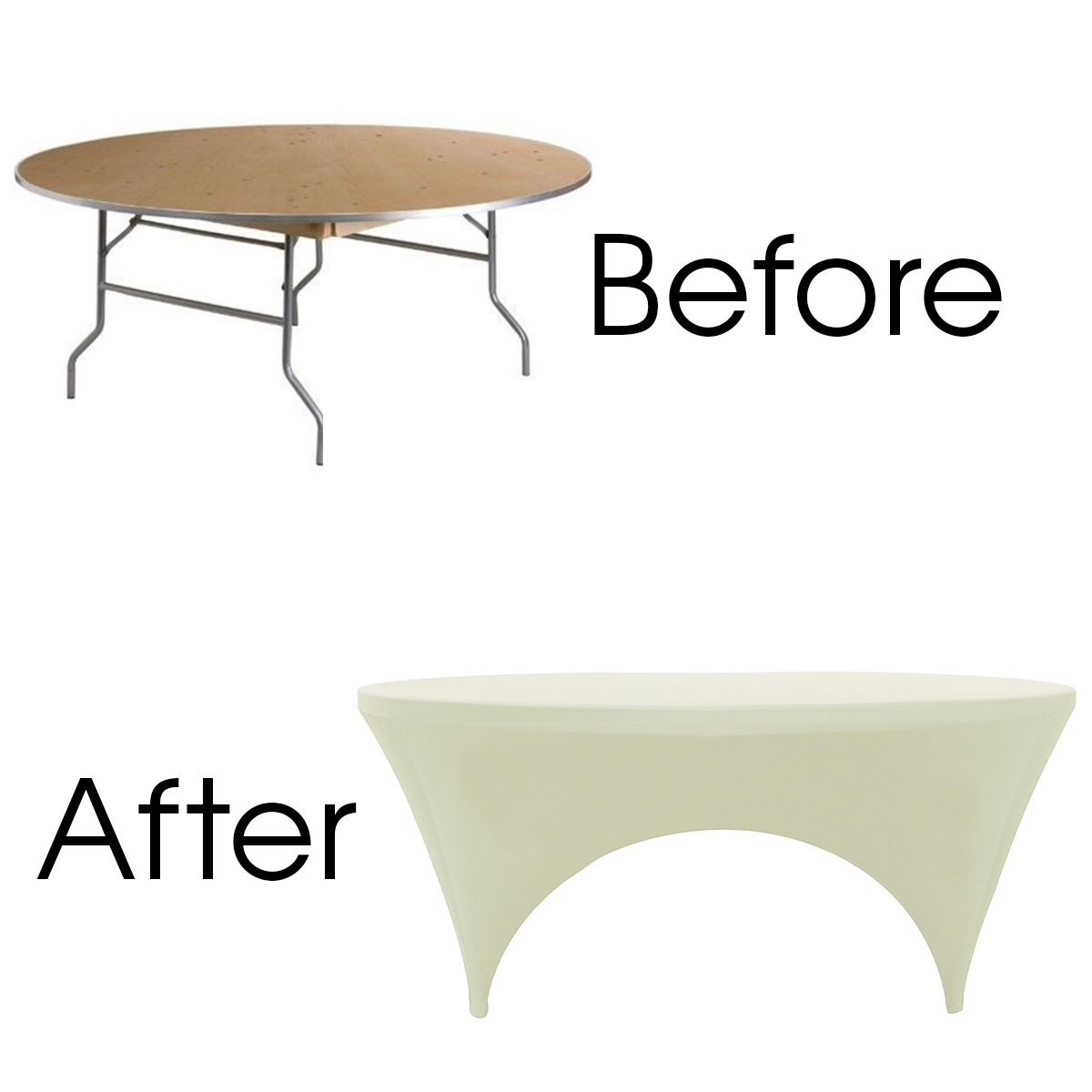 stretch-spandex-6ft-round-table-covers-ivory-sides-open-before-after.jpg
